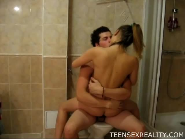 Making out in a shower