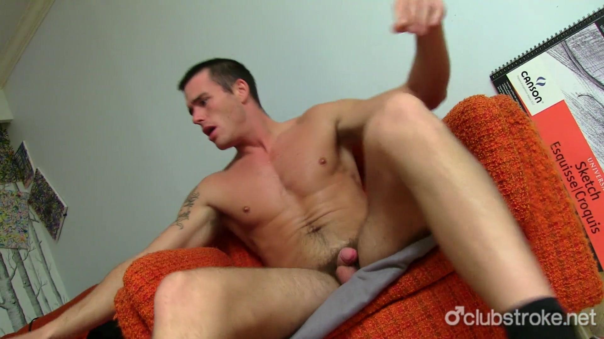 Straight men masturbating video