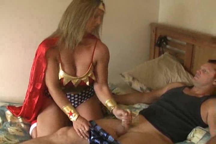 Superhero handjob